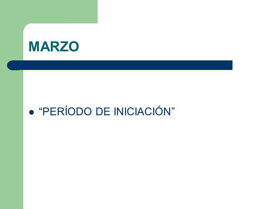 MARZO PERÍODO DE INICIACIÓN