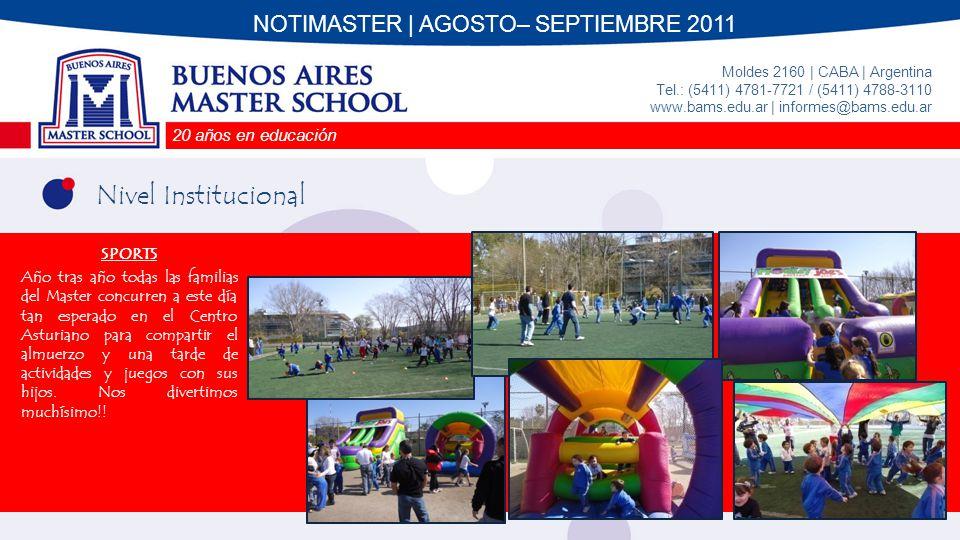 20 años en educación Moldes 2160 | CABA | Argentina | Tel.: (5411) 4781-7721 / (5411) 4788-3110 www.bams.edu.ar | informes@bams.edu.ar Hasta la próxima!