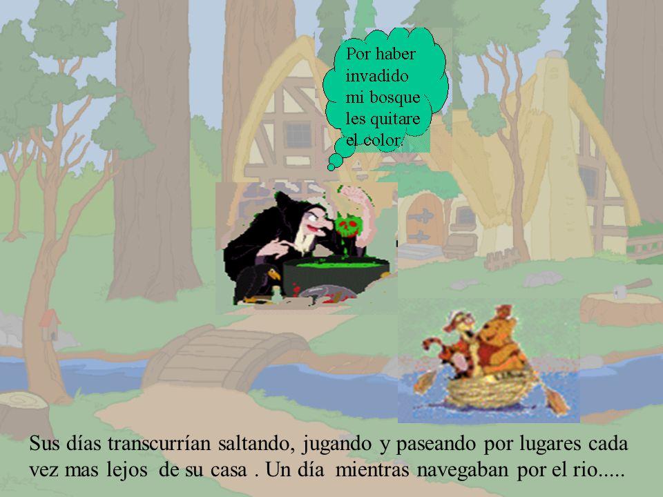 En un bosque encantado vivían un osito y un tigre