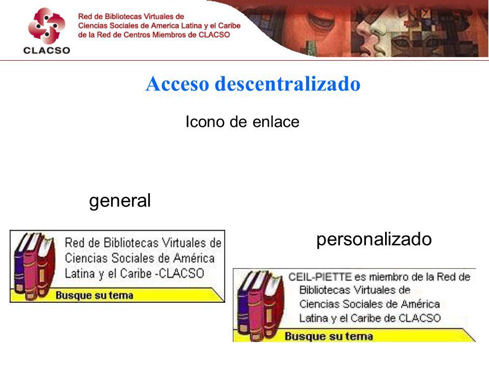 Acceso descentralizado Icono de enlace personalizado general