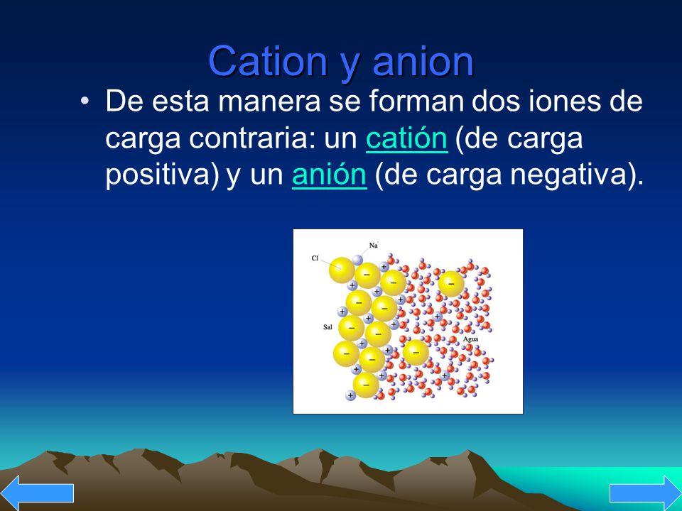 La unión de dos átomos por enlace iónico un electrón abandona el átomo menos electronegativo y pasa a formar parte de la nube electrónica del más electronegativo.