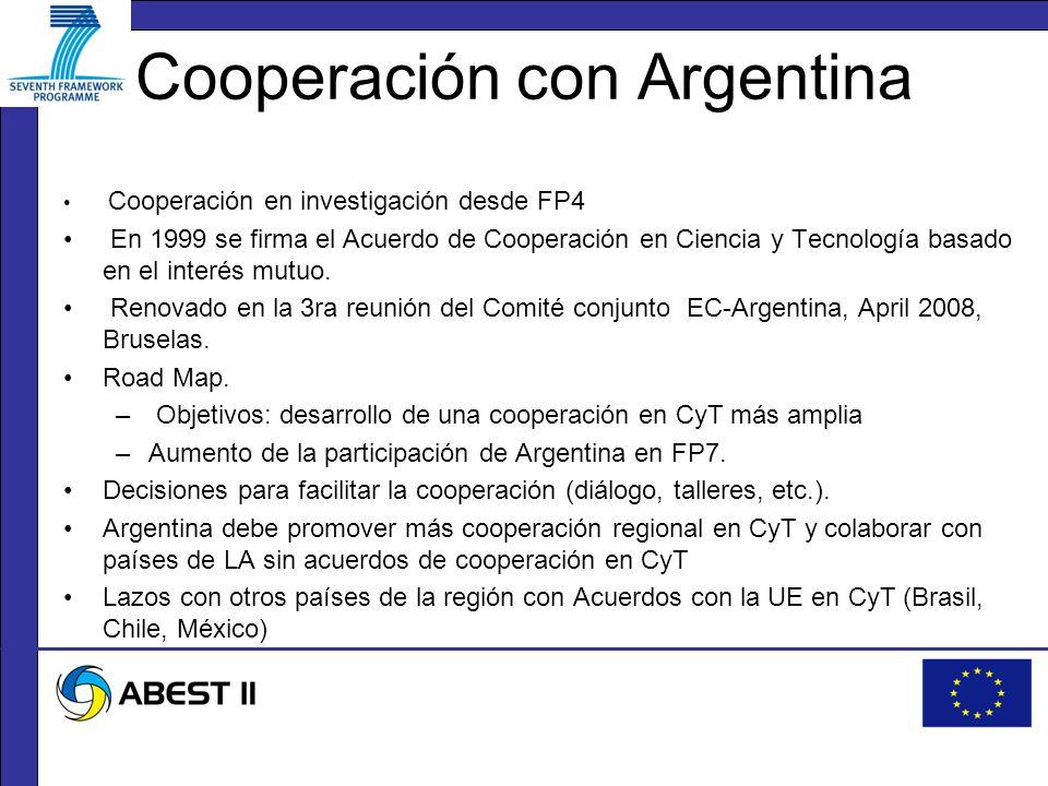 Cooperación en investigación desde FP4 En 1999 se firma el Acuerdo de Cooperación en Ciencia y Tecnología basado en el interés mutuo.