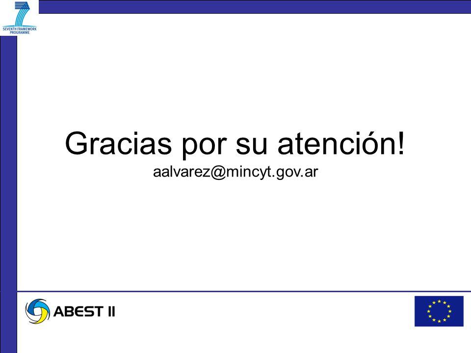 Gracias por su atención! aalvarez@mincyt.gov.ar