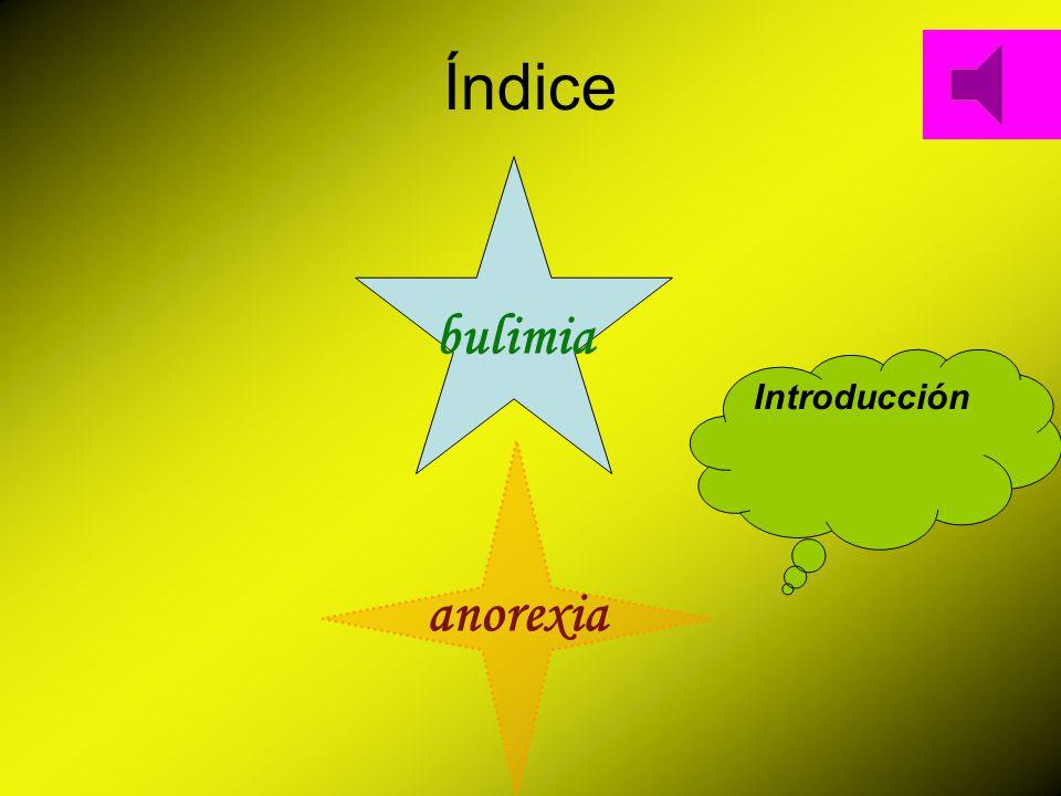 Índice bulimia anorexia Introducción
