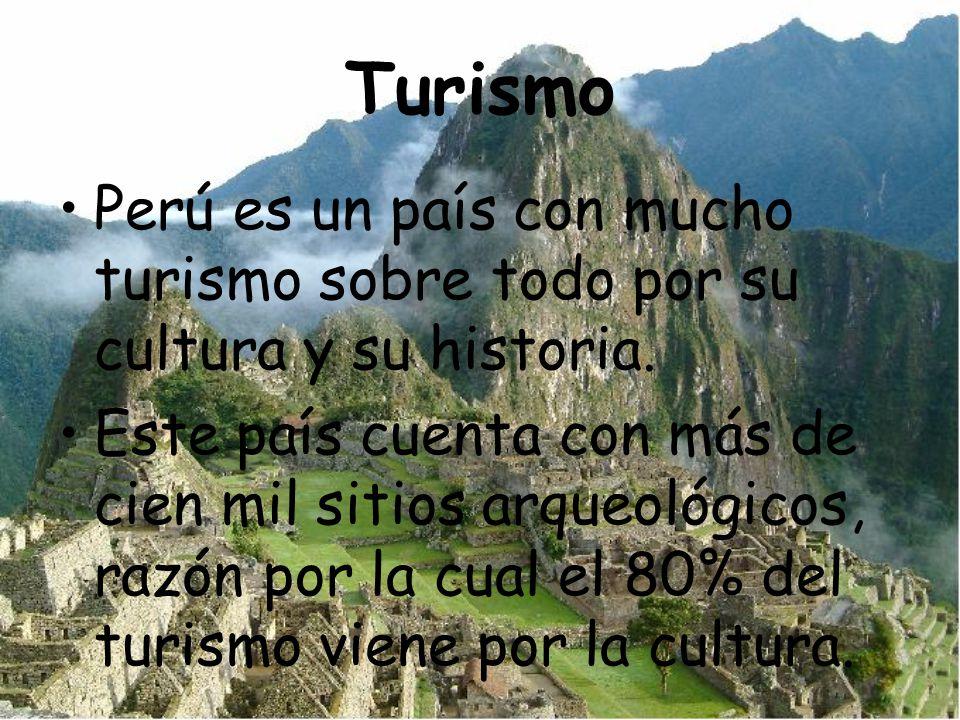 Turismo Perú es un país con mucho turismo sobre todo por su cultura y su historia. Este país cuenta con más de cien mil sitios arqueológicos, razón po