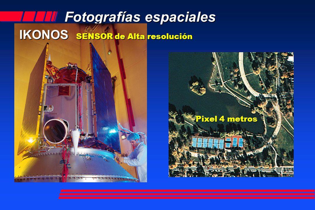 Fotografías espaciales IKONOS SENSOR de Alta resolución Pixel 4 metros