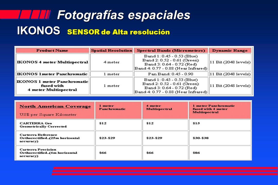 Fotografías espaciales IKONOS SENSOR de Alta resolución Fusión color Píxel 1 metro Cortesía de Infosat s.a.