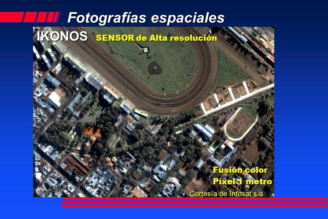 Fotografías espaciales EROS A1 Lanzado el 5 de Diciembre de 2000 Escena de 12.5 km x 12.5 km Pancromática Resolución espacial: 1.8 m