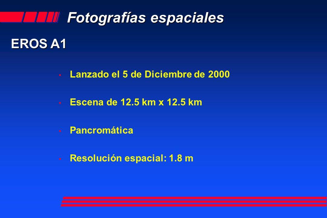 Fotografías espaciales EROS A1 Pixel 1.8 m Cortesía de Conae