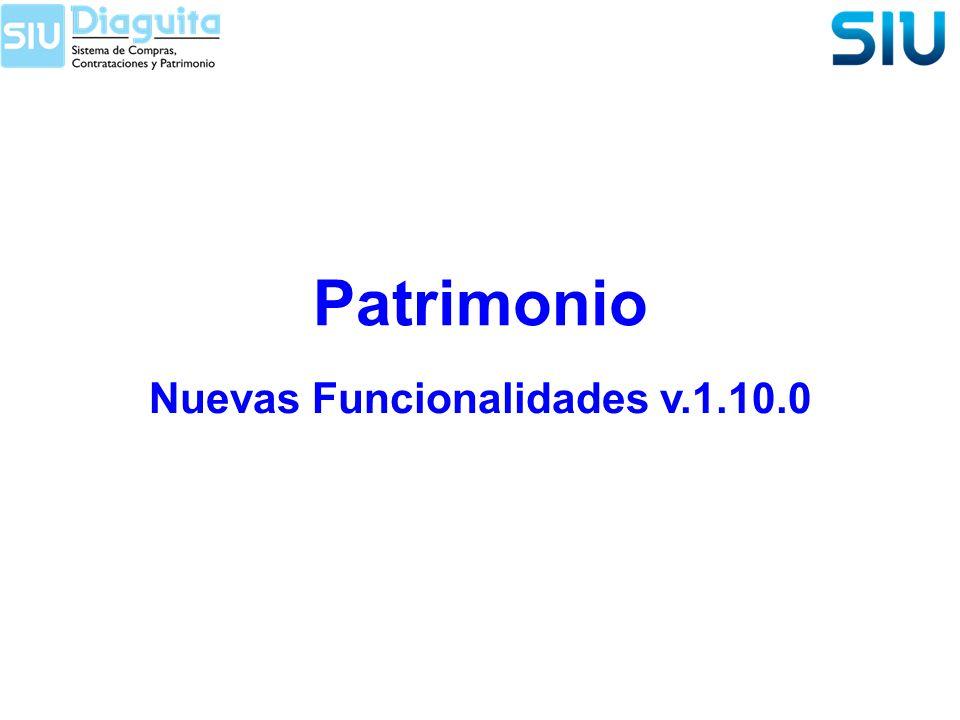 Patrimonio Nuevas Funcionalidades v.1.10.0