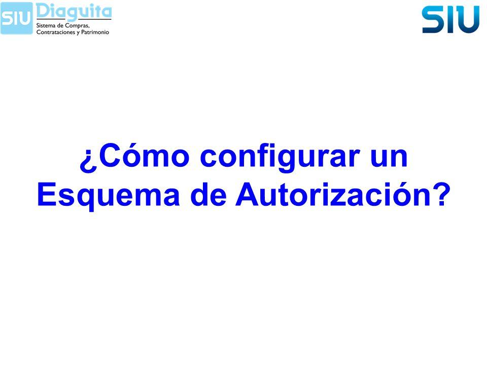 ¿Cómo configurar un Esquema de Autorización?