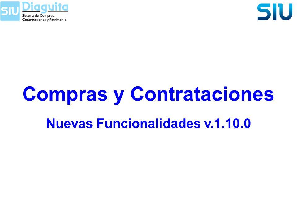 Compras y Contrataciones Nuevas Funcionalidades v.1.10.0