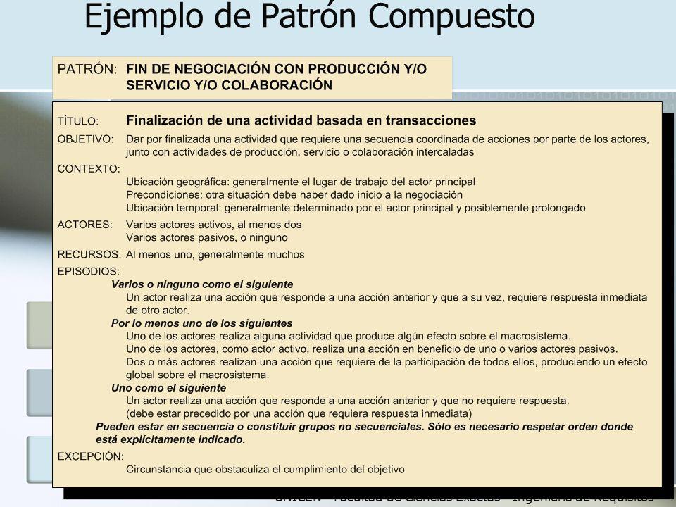 UNICEN - Facultad de Ciencias Exactas - Ingeniería de Requisitos Ejemplo de Patrón Compuesto