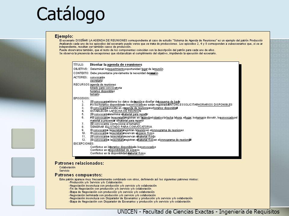 UNICEN - Facultad de Ciencias Exactas - Ingeniería de Requisitos Catálogo