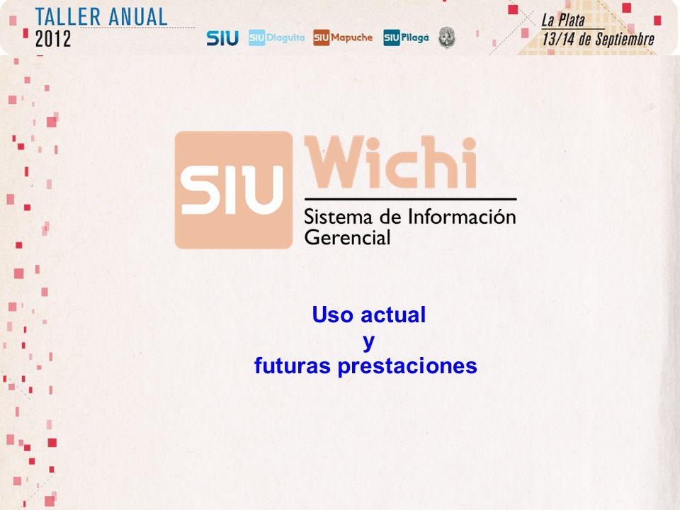 Uso actual y futuras prestaciones