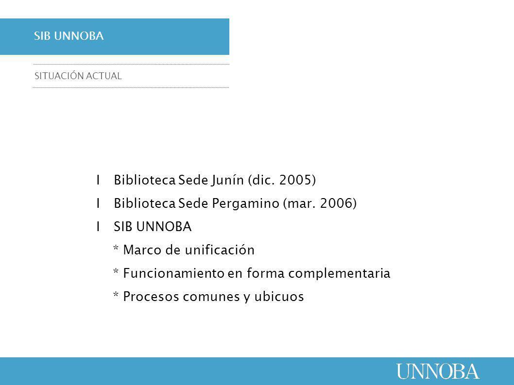 ΙBiblioteca Sede Junín (dic. 2005) ΙBiblioteca Sede Pergamino (mar.