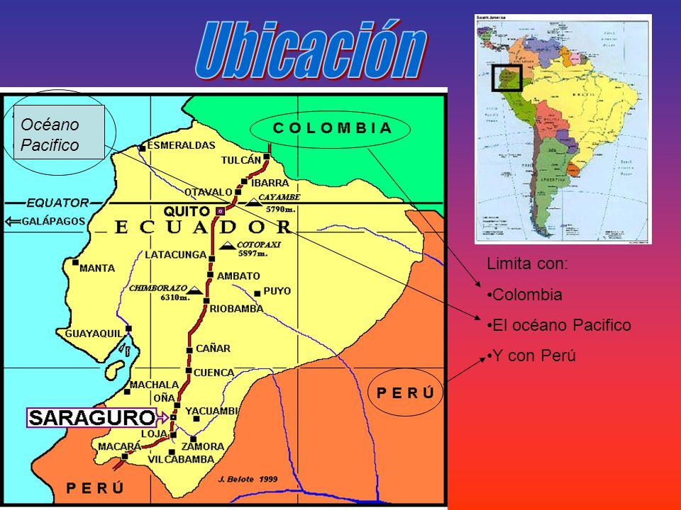 Limita con: Colombia El océano Pacifico Y con Perú Océano Pacifico