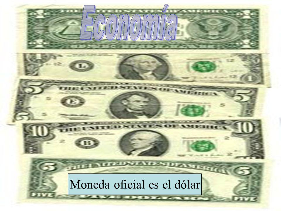 . Moneda oficial es el dólar