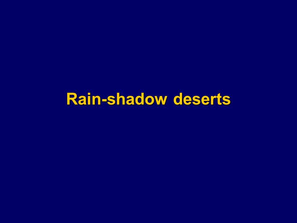 Rain-shadow deserts