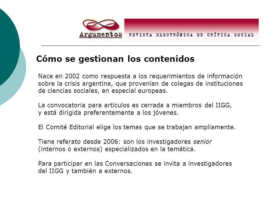 Nace en 2002 como respuesta a los requerimientos de información sobre la crisis argentina, que provenían de colegas de instituciones de ciencias sociales, en especial europeas.