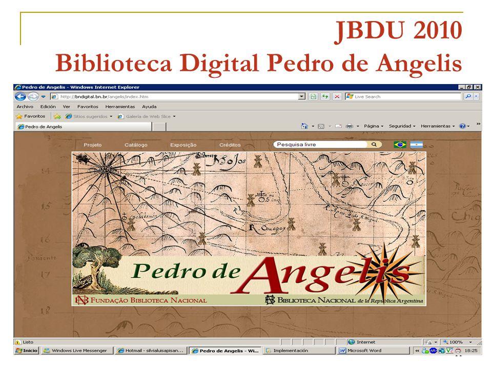11 JBDU 2010 Biblioteca Digital Pedro de Angelis