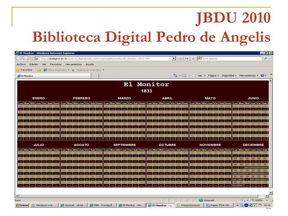 22 JBDU 2010 Biblioteca Digital Pedro de Angelis