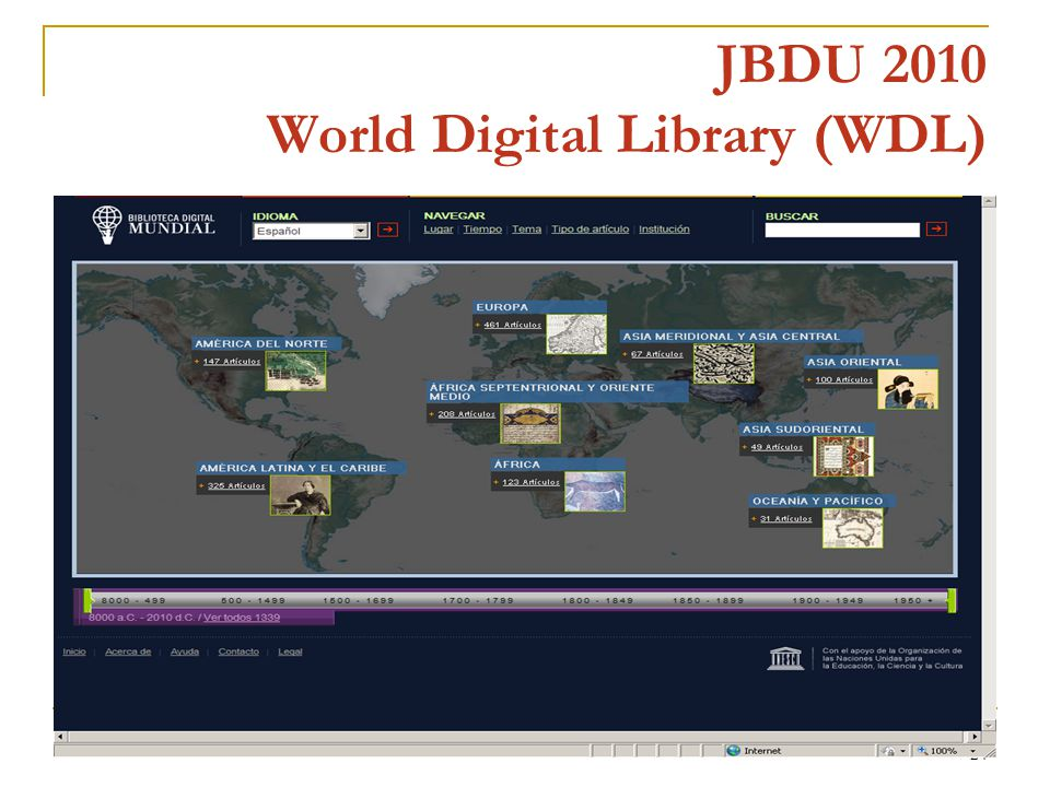 24 JBDU 2010 World Digital Library (WDL)