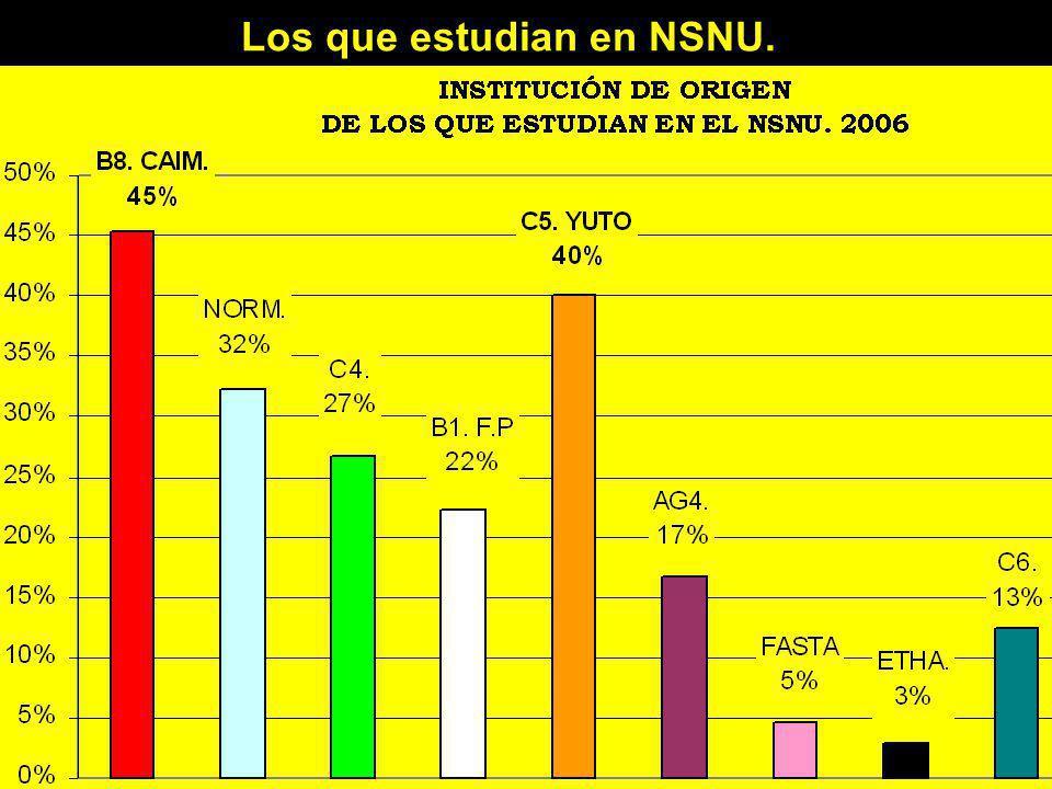 Los que estudian en NSNU.