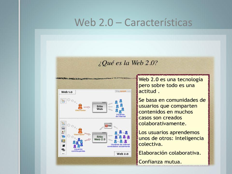 Web 2.0 – Características