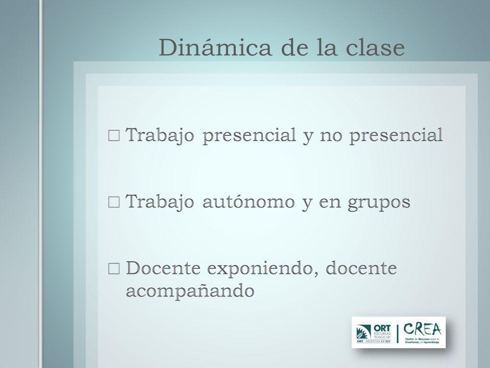 Dinámica de la clase