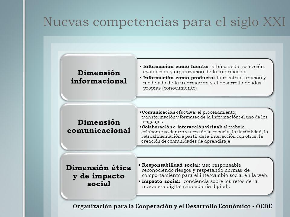 Organización para la Cooperación y el Desarrollo Económico - OCDE Información como fuente: la búsqueda, selección, evaluación y organización de la inf