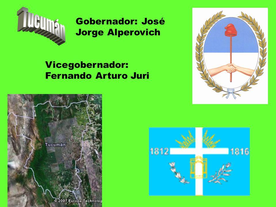 Gobernador: José Jorge Alperovich Vicegobernador: Fernando Arturo Juri