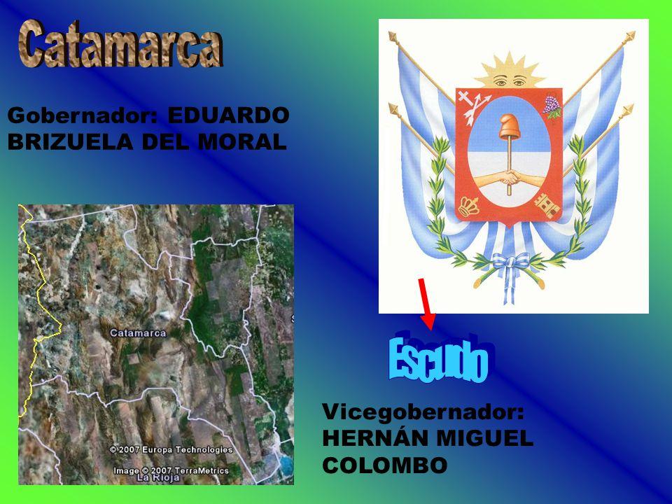 Gobernador: EDUARDO BRIZUELA DEL MORAL Vicegobernador: HERNÁN MIGUEL COLOMBO