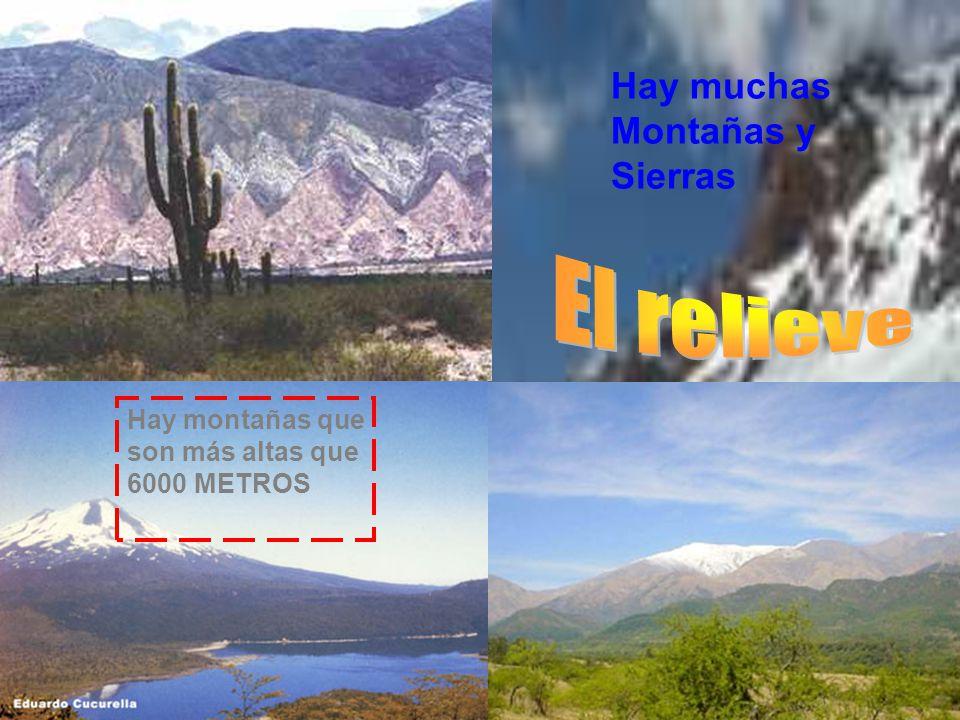 Hay montañas que son más altas que 6000 METROS Hay muchas Montañas y Sierras