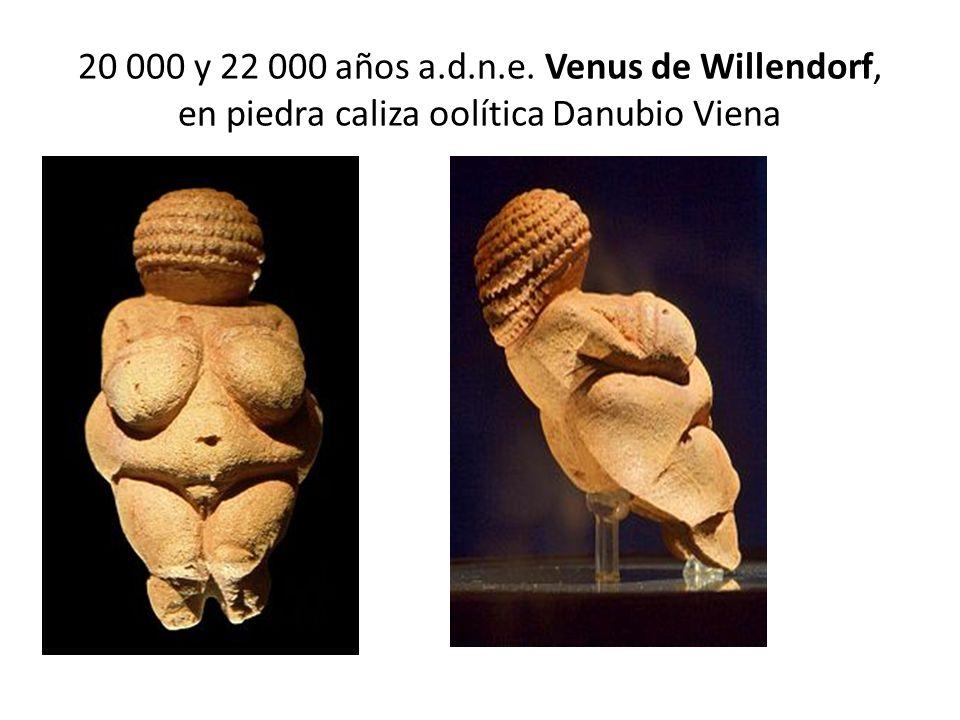 20 000 y 22 000 años a.d.n.e. Venus de Willendorf, en piedra caliza oolítica Danubio Viena