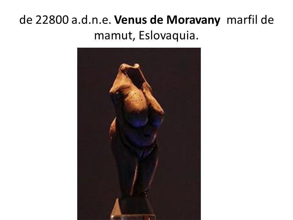 de 22800 a.d.n.e. Venus de Moravany marfil de mamut, Eslovaquia.