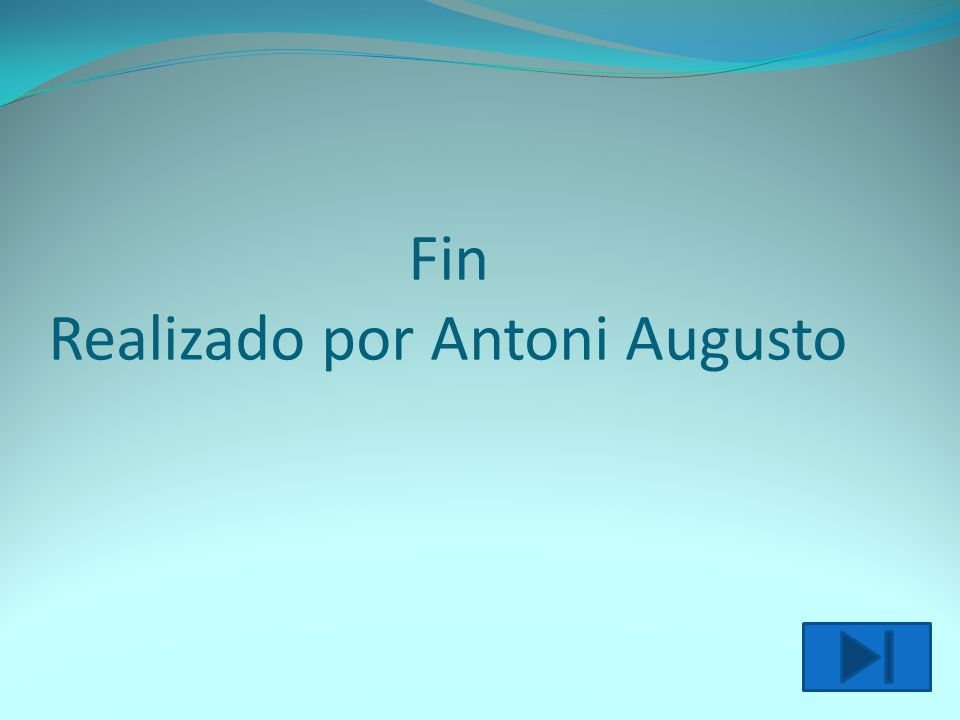 Fin Realizado por Antoni Augusto