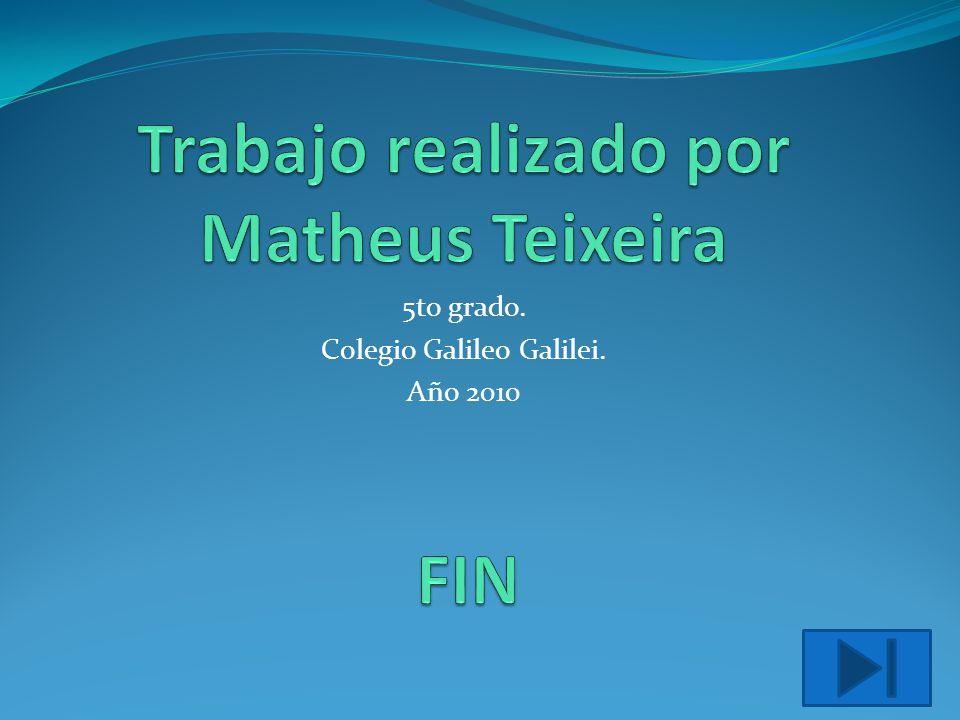 5to grado. Colegio Galileo Galilei. Año 2010