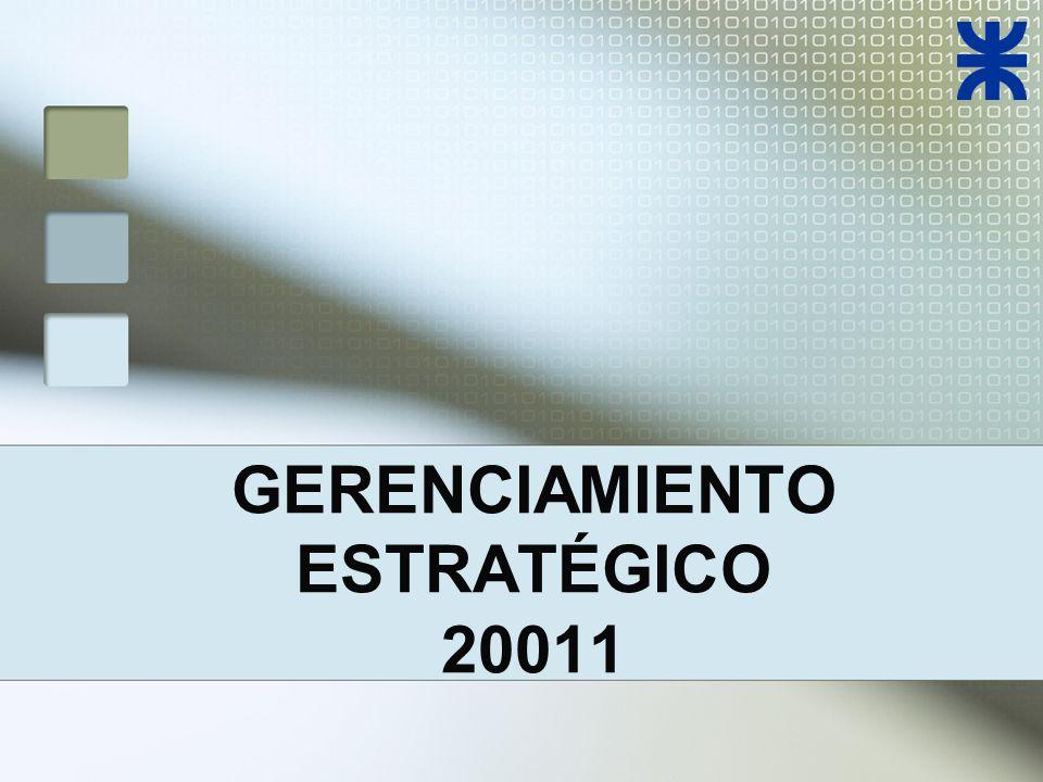 GERENCIAMIENTO ESTRATÉGICO 20011