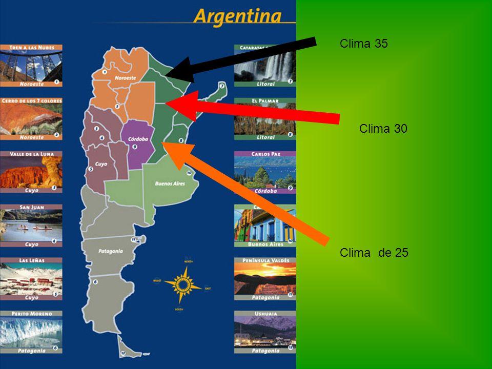 Clima de 25 Clima 30 Clima 35