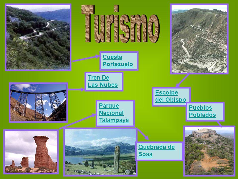 Tren De Las Nubes Cuesta Portezuelo Escoipe del Obispo Pueblos Poblados Parque Nacional Talampaya Quebrada de Sosa