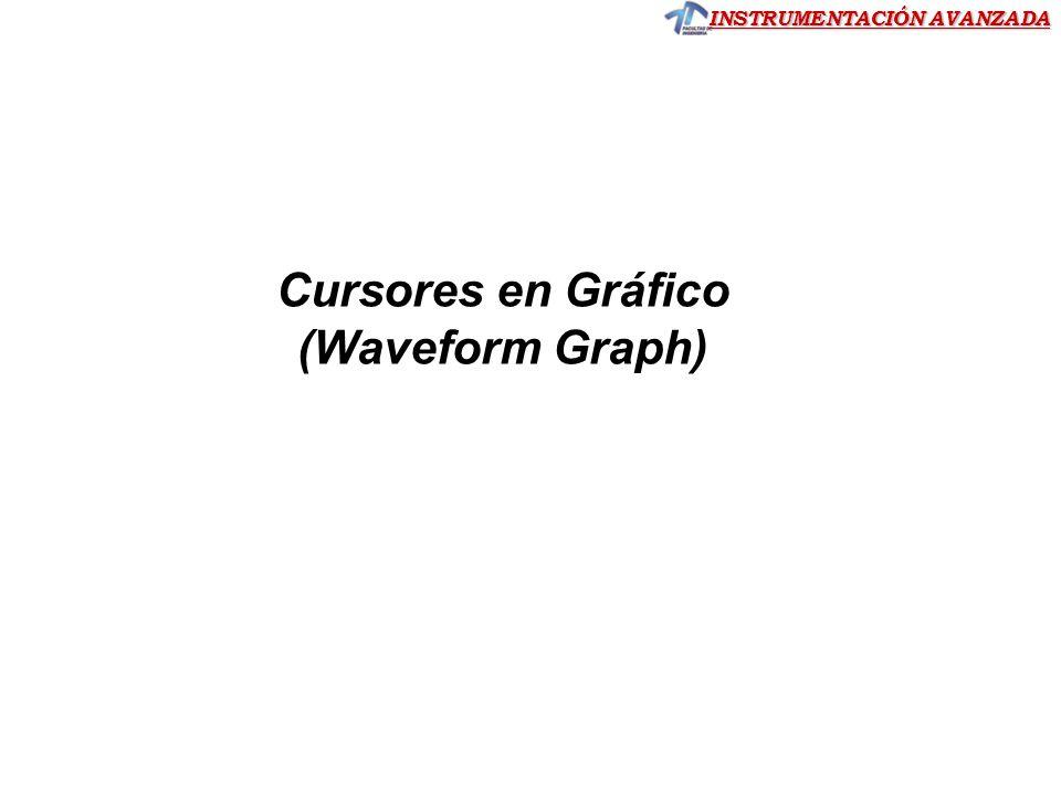 INSTRUMENTACIÓN AVANZADA Cursores en Gráfico (Waveform Graph)