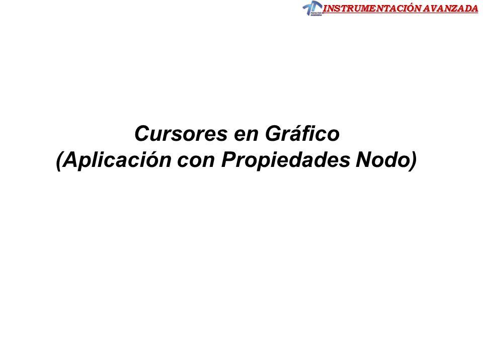 INSTRUMENTACIÓN AVANZADA Cursores en Gráfico (Aplicación con Propiedades Nodo)