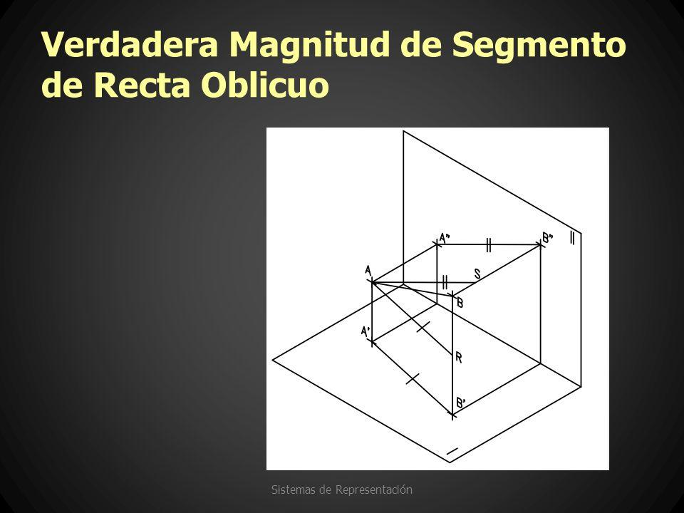 Verdadera Magnitud de Segmento de Recta Oblicuo Sistemas de Representación