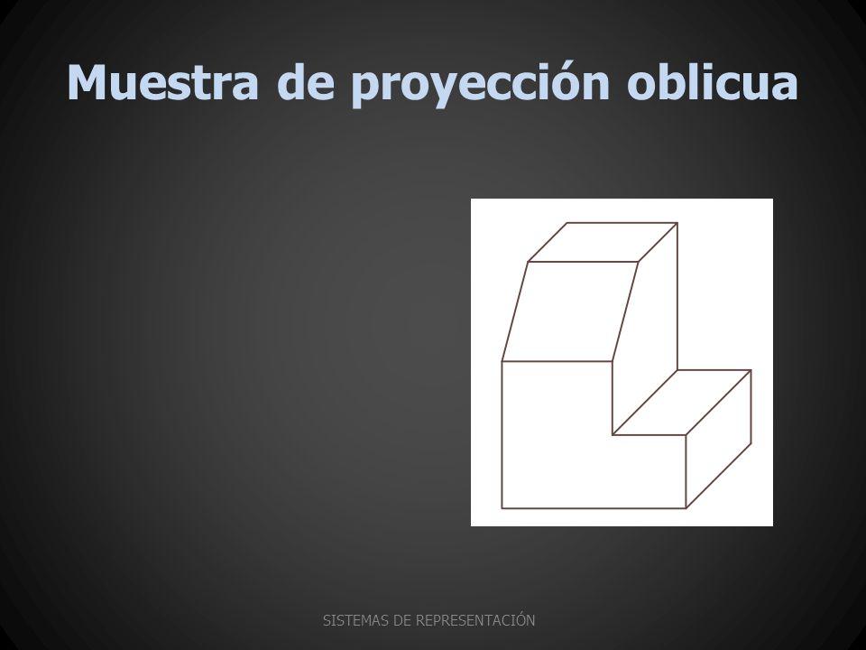Muestra de proyección oblicua SISTEMAS DE REPRESENTACIÓN
