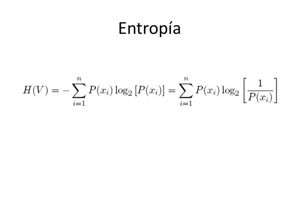 El concepto básico de entropía en teoría de la información tiene mucho que ver con la incertidumbre que existe en cualquier experimento o señal aleatoria.