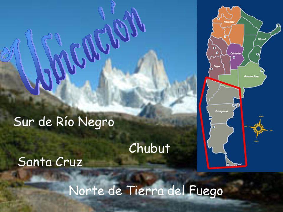 Sur de Río Negro Chubut Santa Cruz Norte de Tierra del Fuego