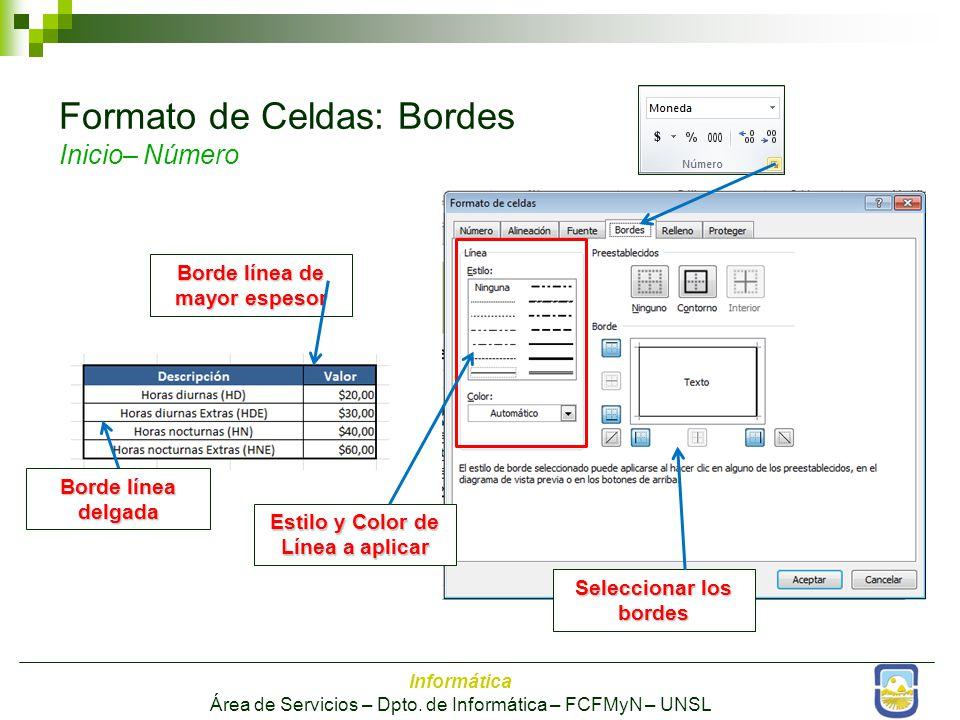 Informática Área de Servicios – Dpto.
