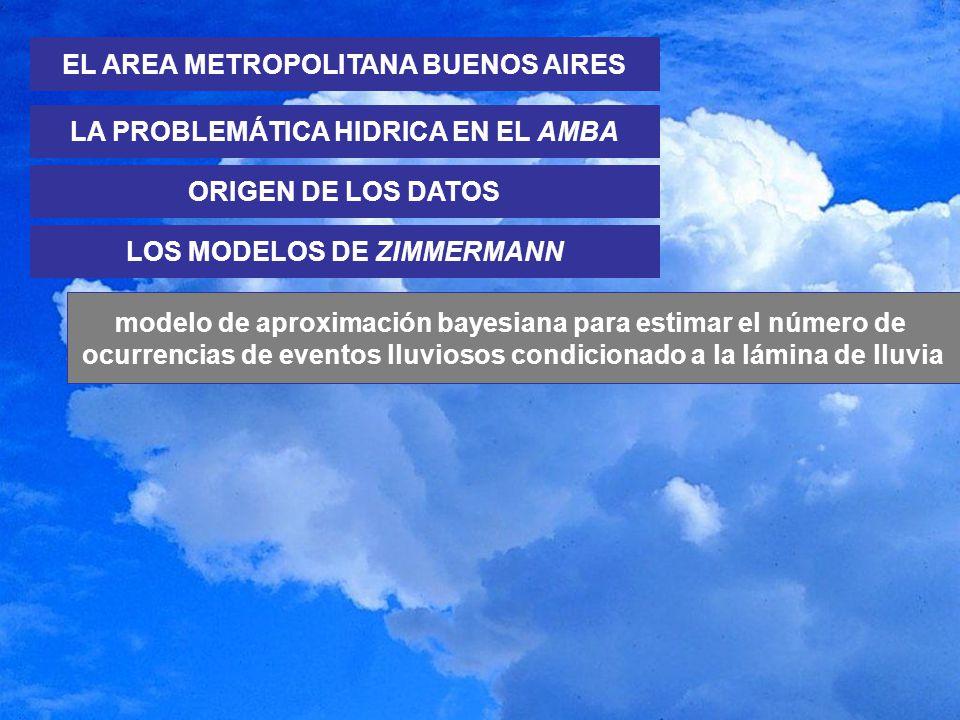 EL AREA METROPOLITANA BUENOS AIRES LA PROBLEMÁTICA HIDRICA EN EL AMBA LOS MODELOS DE ZIMMERMANN modelo de aproximación bayesiana para estimar el númer