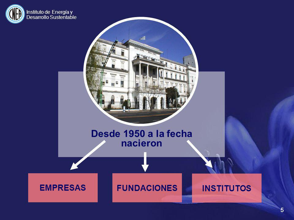 INSTITUTO DE ENERGÍA Y DESARROLLO SUSTENTABLE Secretaría de Energía de la Nación I NSTITUTOS DE LA CNEA ACADÉMICOS INSTITUTO BALSEIRO (CAB) INSTITUTO D.